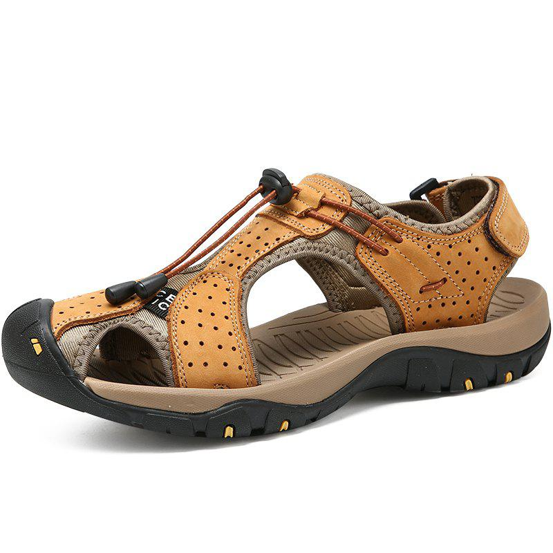 Latest Genuine Leather Summer Beach Male Shoes Casual Sandals
