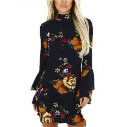 Long Sleeved Chiffon Dress for Women -
