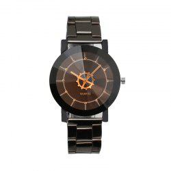Stylish Simple Casual Steel Band Geometric Movement Quartz Watch -