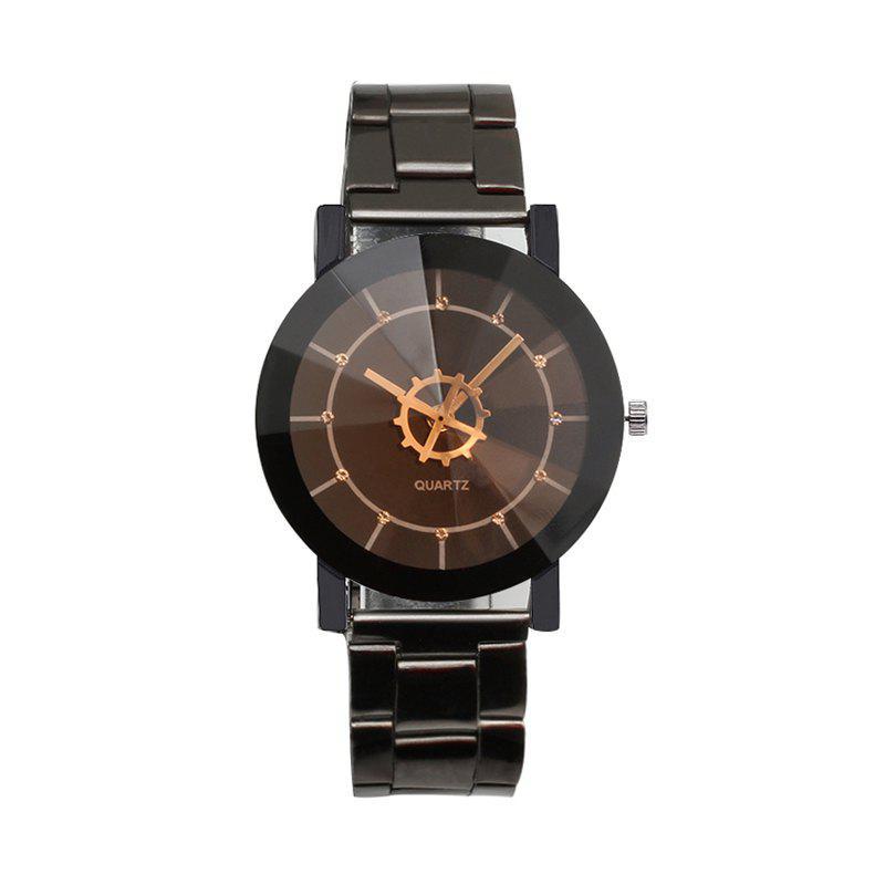 Hot Stylish Simple Casual Steel Band Geometric Movement Quartz Watch