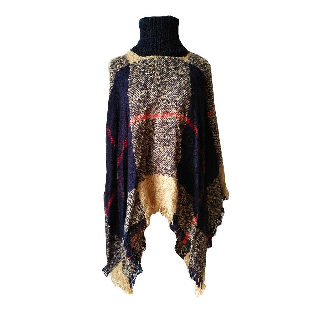 Store Tall Dress Collar with Plaid Lady's Scarf