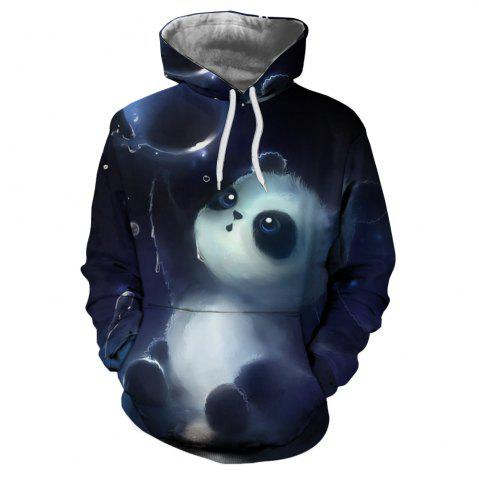 706220502e5 Fashion Casual Men s 3D Panda Bubble Print Patch Pocket Hoodie Sweater