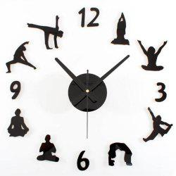 Creative Yoga DIY Acrylic Mute Home Wall Clock -