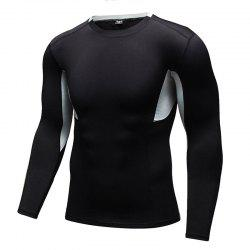Men's Tight-Fitting Fitness Running Quick-Drying Stretch T-Shirt -