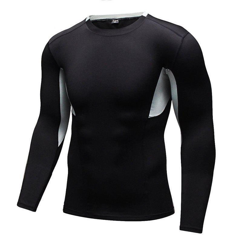 Trendy Men's Tight-Fitting Fitness Running Quick-Drying Stretch T-Shirt