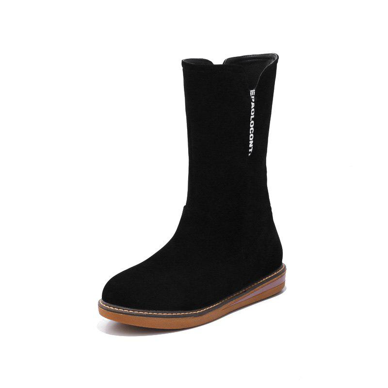 Sale Flat Heel Frosted Red Casual Snow Boots