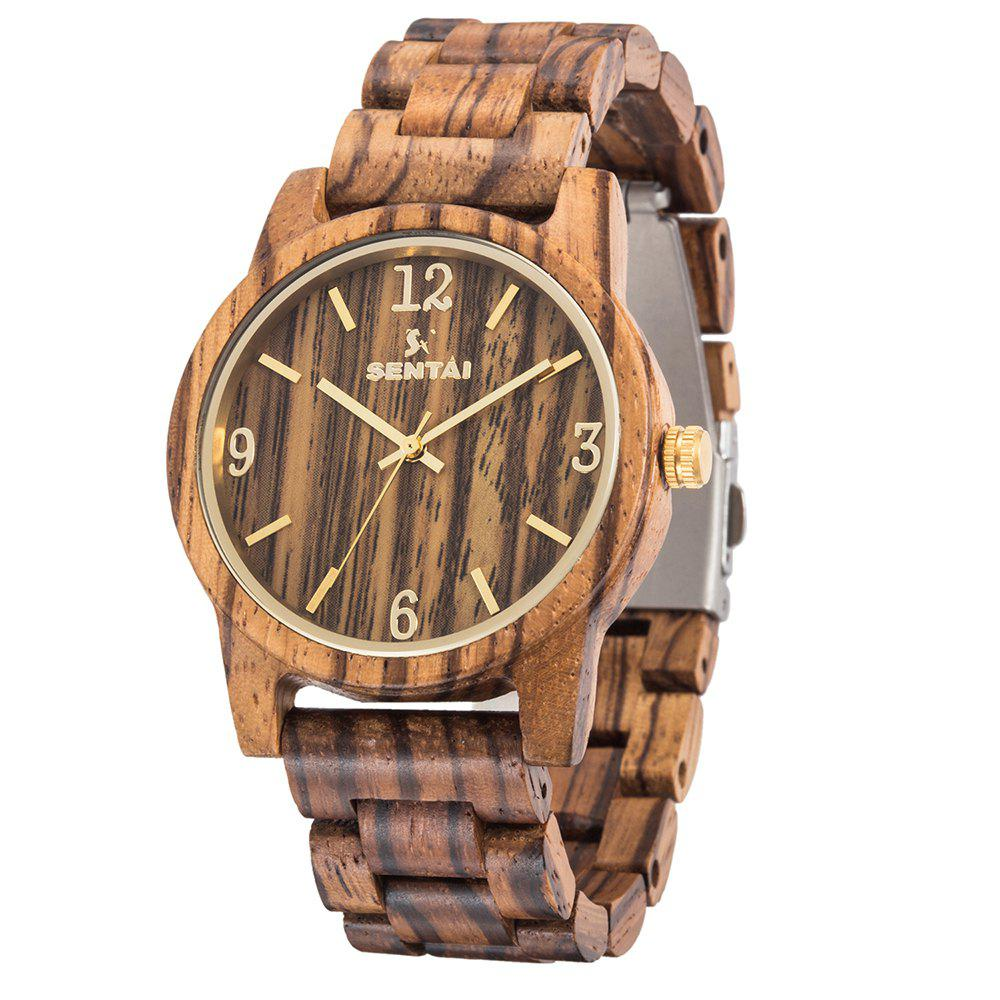 Cheap Men's and Women's Wearable Handmade Vintage Quartz Natural Wooden Watch