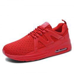 Men'S Flying Woven Breathable Cushions Shock Absorption Sports Running Shoes -