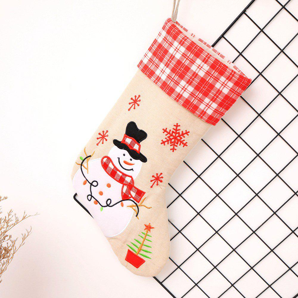Online Christmas Stocking Hanging Socks Santa Claus Candy Bag Gift Bags  Ornament 6577a1049a15d
