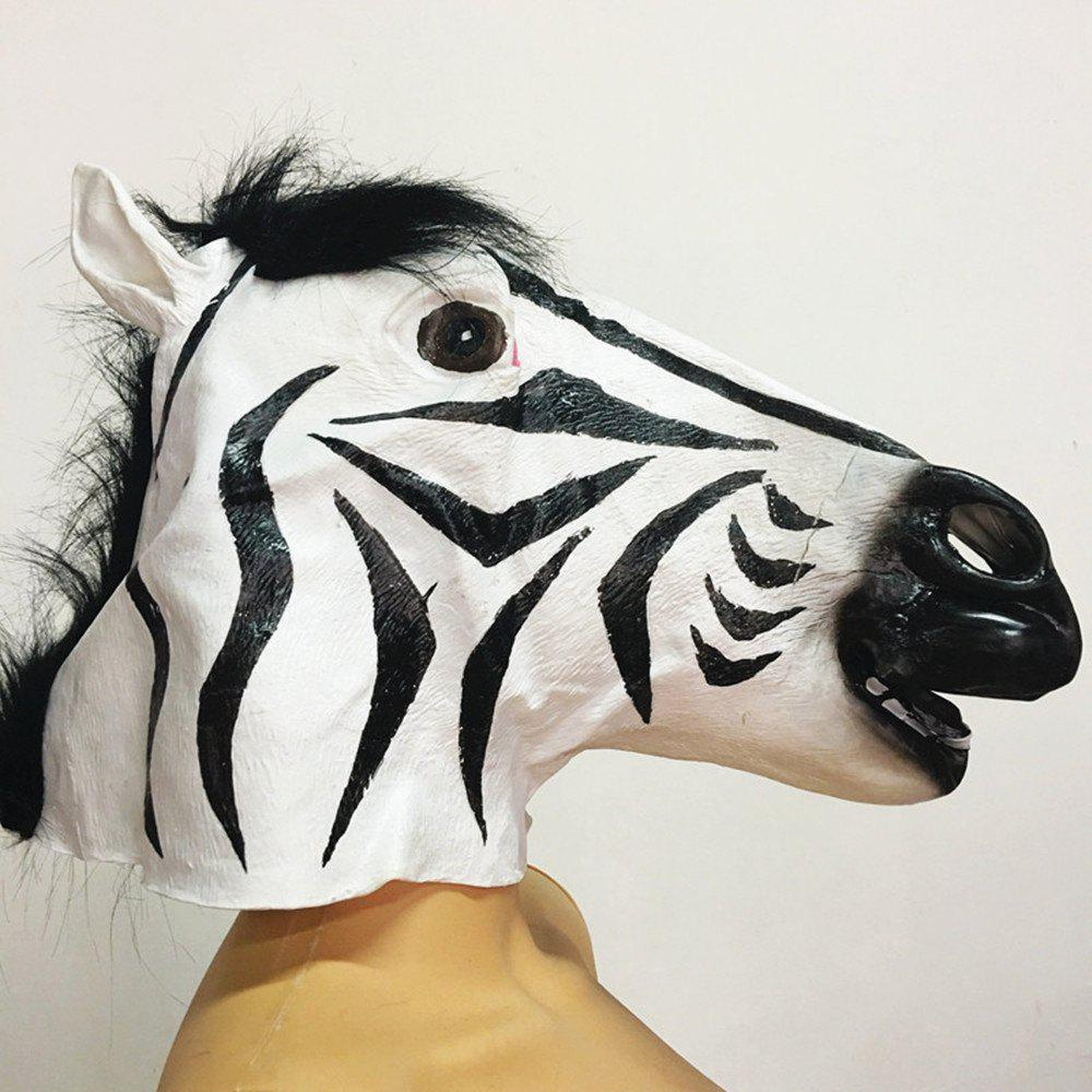 Outfit Full Face Halloween Horse Mask Head Latex Brown Costume Theater Prop Party