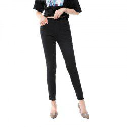 Jeans Nine Spring and Autumn The New Version Is Thin High Waist Black -
