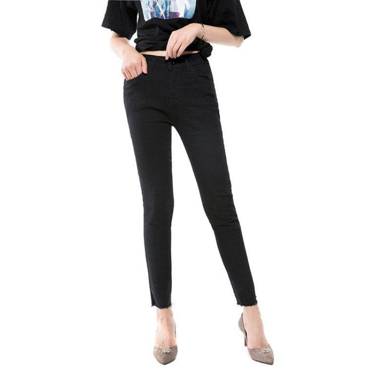Fashion Jeans Nine Spring and Autumn The New Version Is Thin High Waist Black