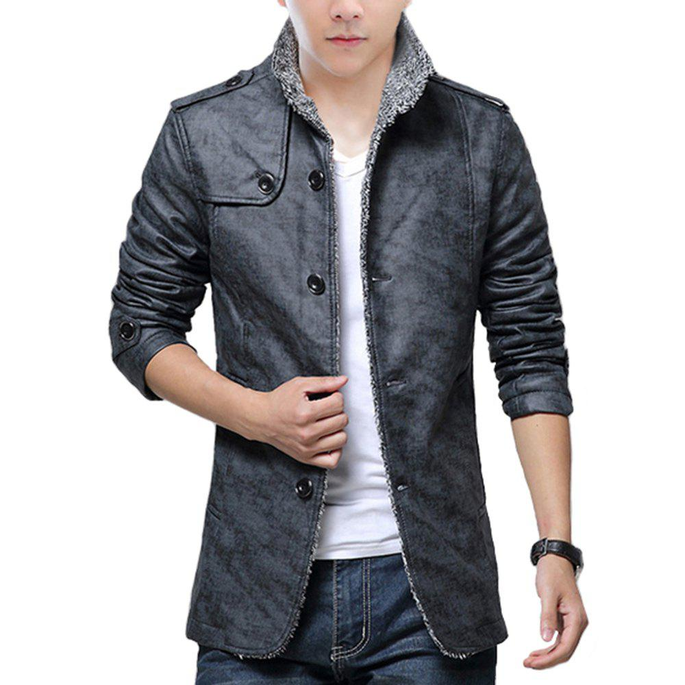 Unique Autumn and Winter Men'S Fur Integrated Leather Clothing Fashion Large Size Jacke