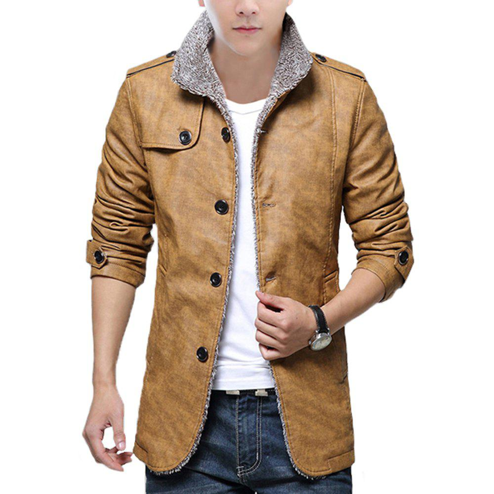 Latest Autumn and Winter Men'S Fur Integrated Leather Clothing Fashion Large Size Jacke
