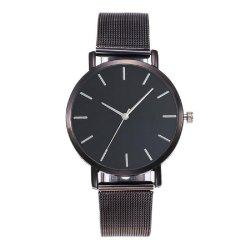 Montre-bracelet occasionnelle de quartz de style simple -