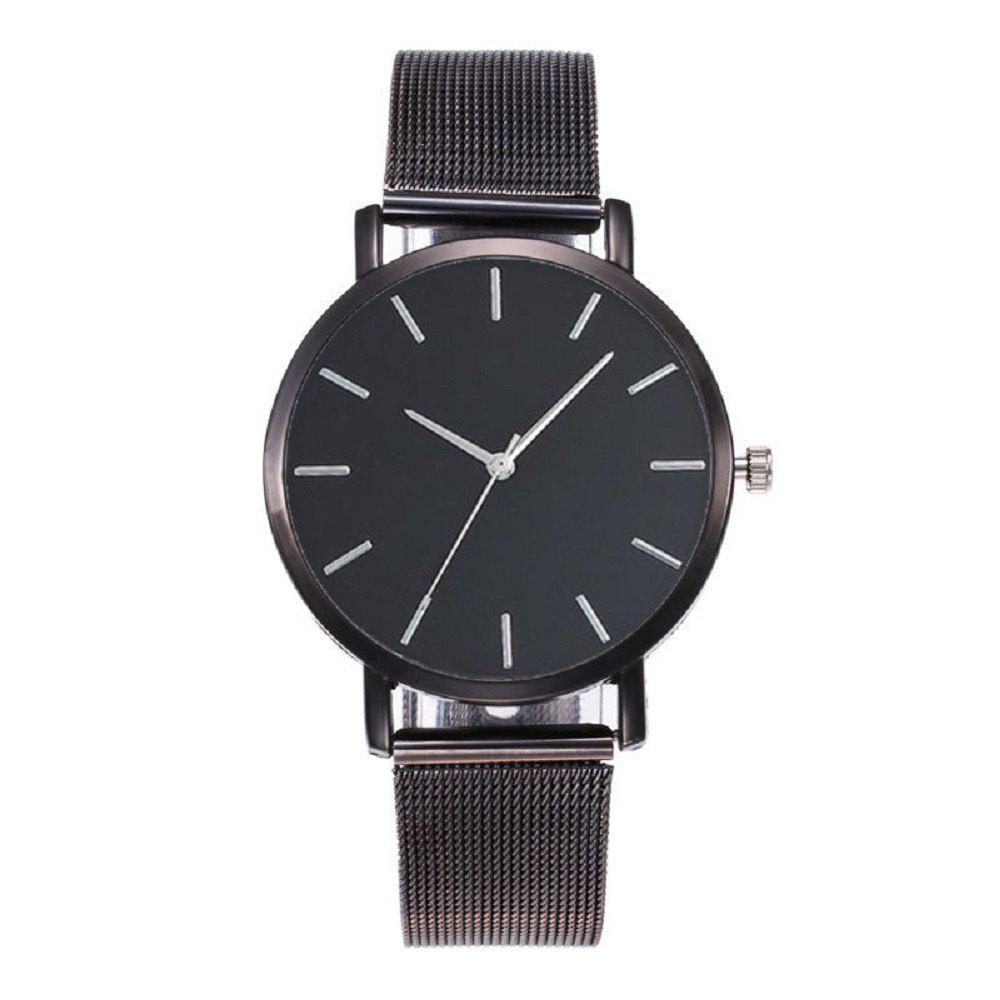 Montre-bracelet occasionnelle de quartz de style simple
