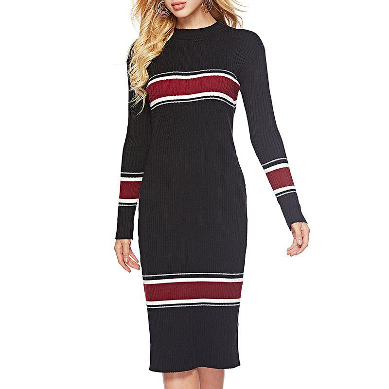 New Autumn Slim Slim Knitted Extra Long Sweater Dress