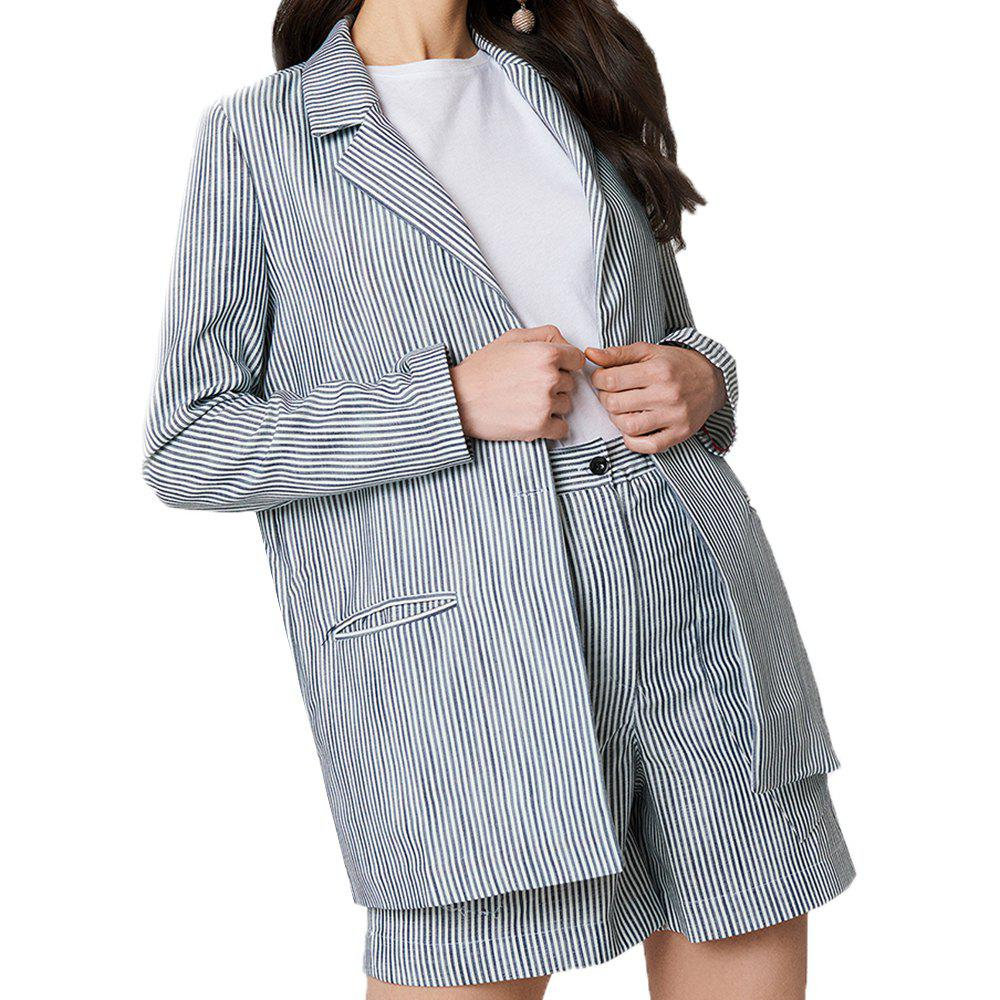 Chic Stripe Detailed Jacket Suit