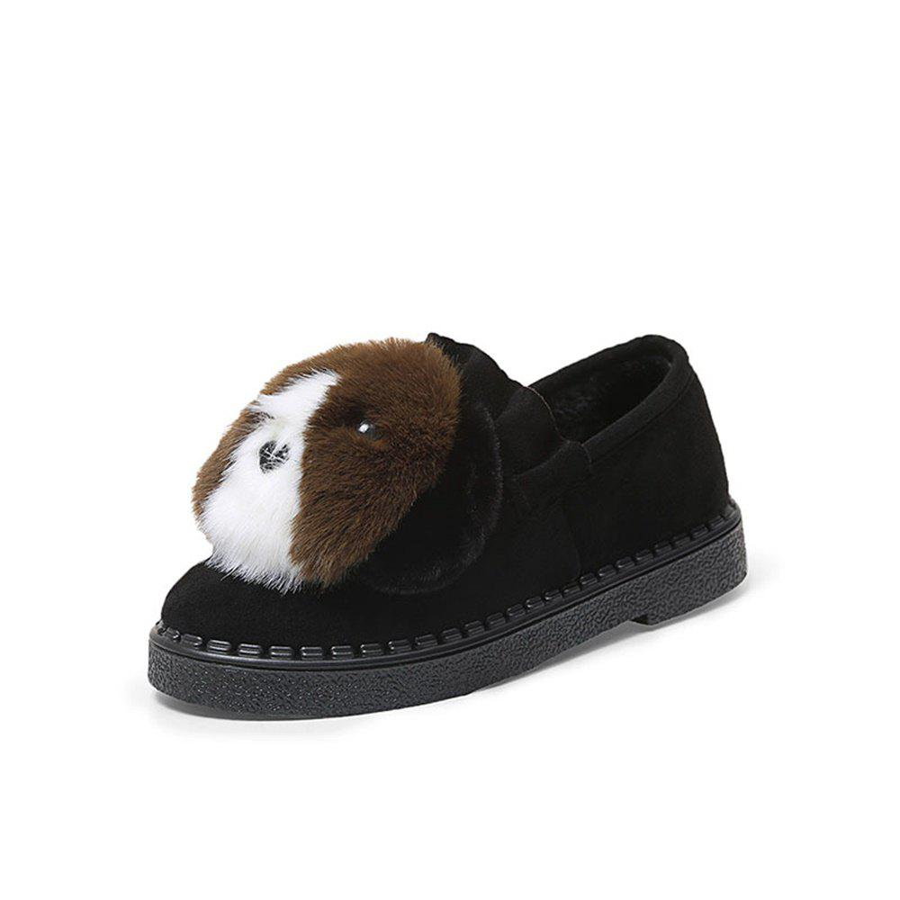 Shop Lovely Dog Warm Comfortable Flat Shoes