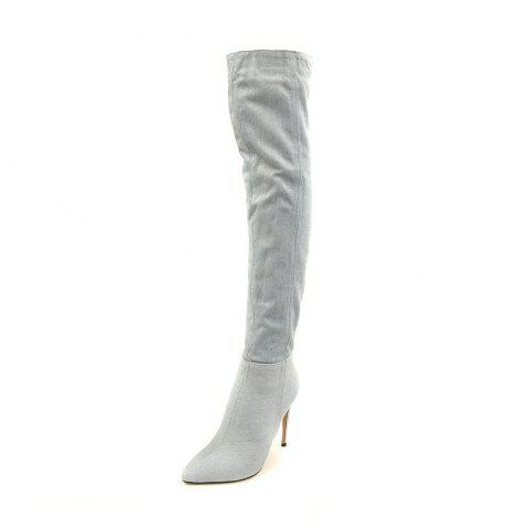 Autumnal And Winter Pointy Cowboy High-Heeled Women's Boots