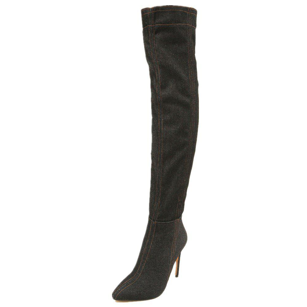 Buy Autumnal And Winter Pointy Cowboy High-Heeled Women's Boots