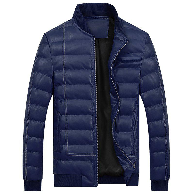 Shops Men Quilted Coats Stand Collar Hoodies Zipper Casual Warmth Padded Jacket