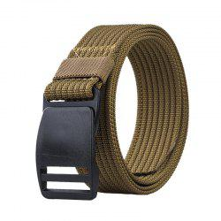 COWATHER Outdoor Tactics Casual Multi-function Buckle Nylon Toile Ceinture - Kaki Foncé