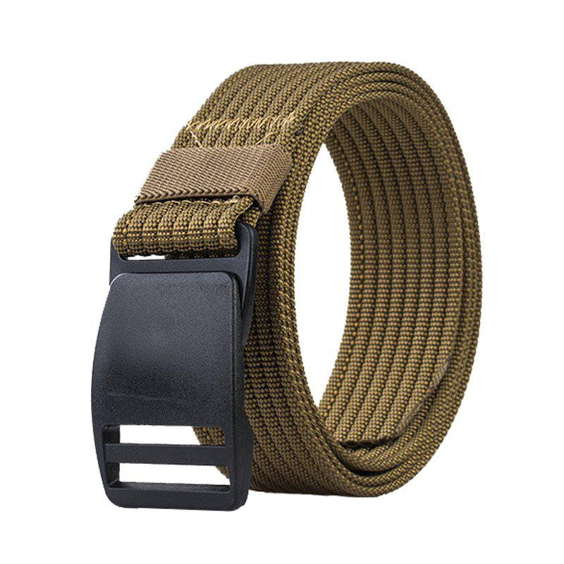 COWATHER Outdoor Tactics Casual Multi-function Buckle Nylon Toile Ceinture Kaki Foncé