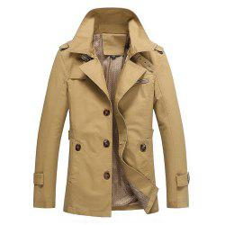 Men'S Windbreaker Long Coat British Coat Large Coat -