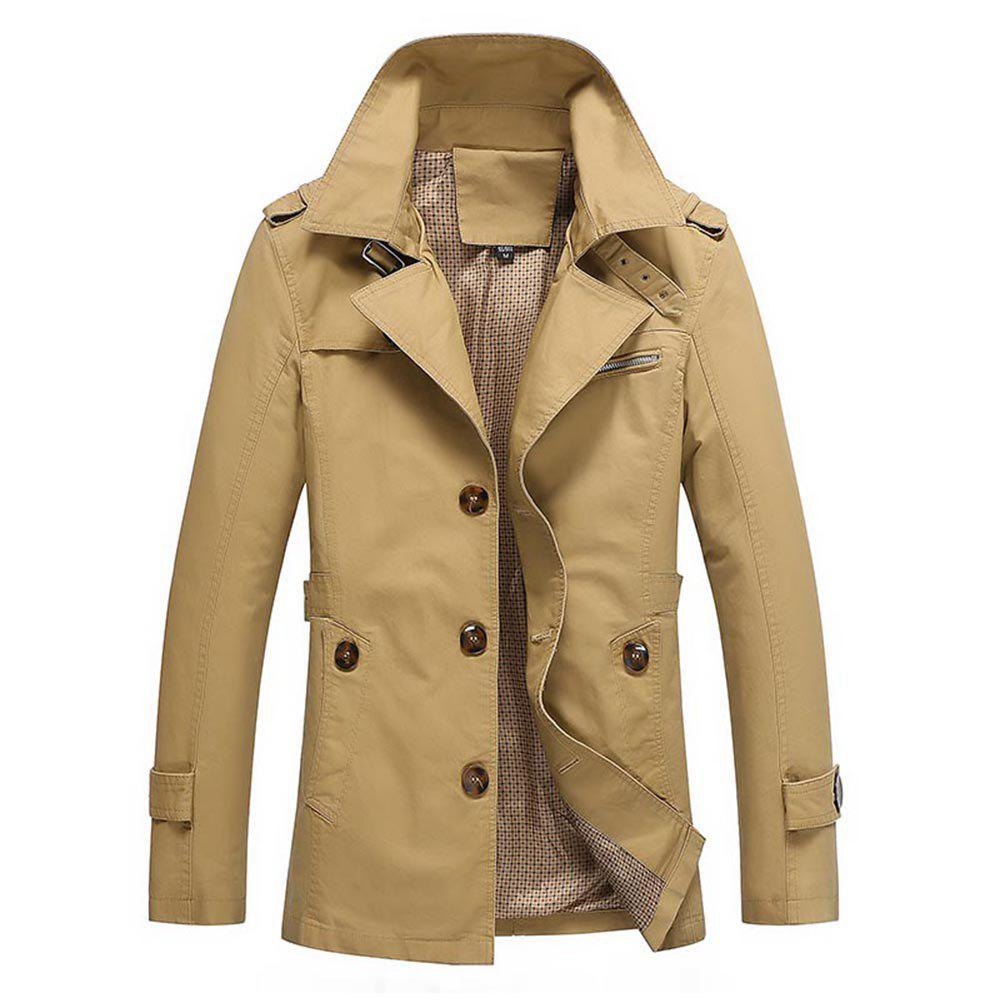 Trendy Men'S Windbreaker Long Coat British Coat Large Coat