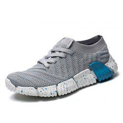 Flying Woven Sneakers Breathable Casual Shoes Light Running Shoes Women'S Shoes -