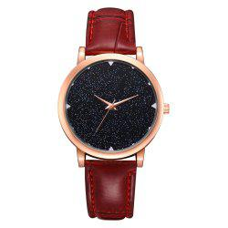 Simple Star Fashion Leisure Girl Watch -