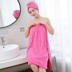Absorbent Bath Towel Thickening and Quick-Drying Bath Towel Bathrobe -