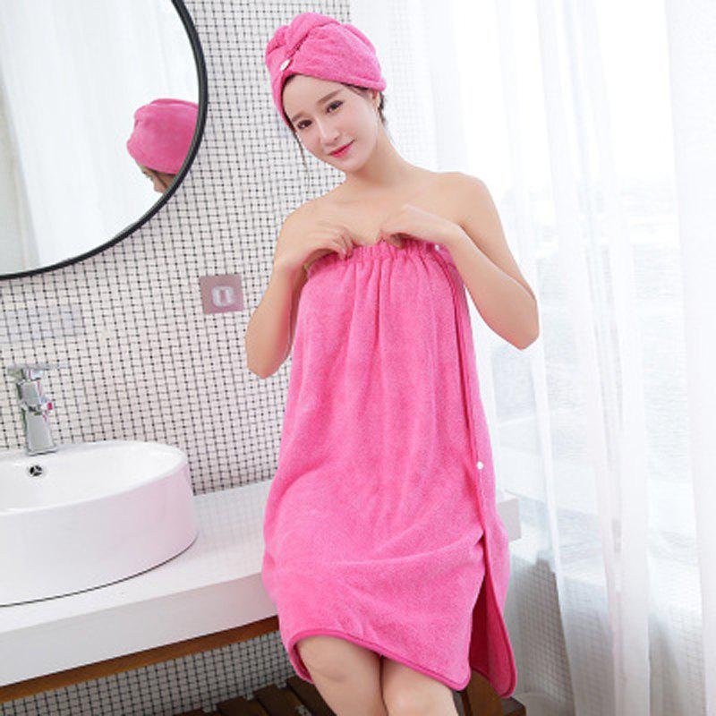 Unique Absorbent Bath Towel Thickening and Quick-Drying Bath Towel Bathrobe
