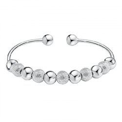 Transfer of Temperament Silver Girl Nine Transfer Bead Bracelet -