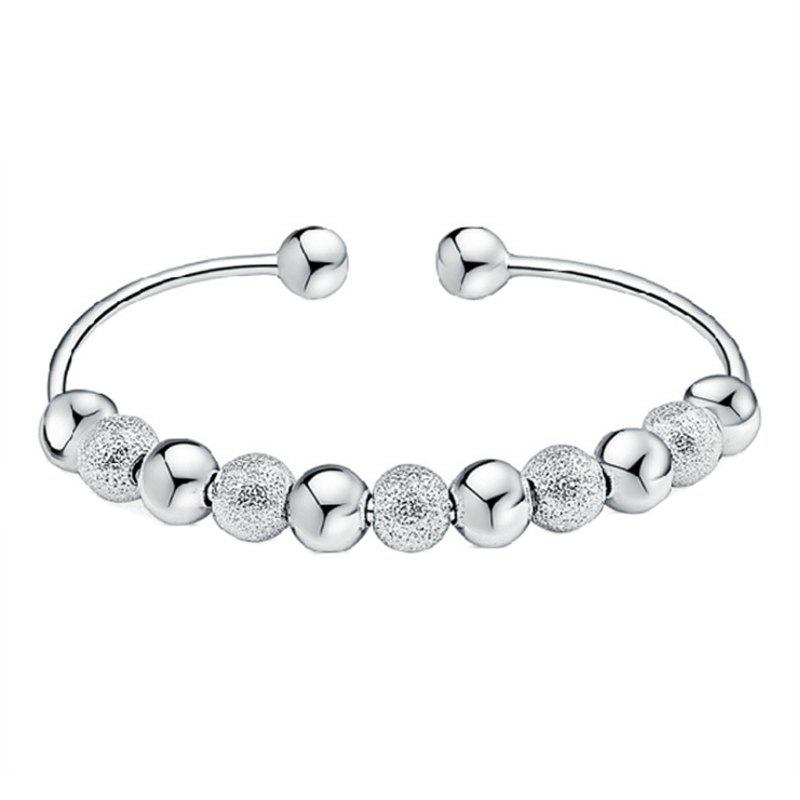 Affordable Transfer of Temperament Silver Girl Nine Transfer Bead Bracelet