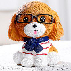 Creative Children'S Gift with Glasses Dog Piggy Bank -