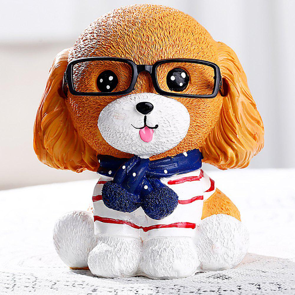 Affordable Creative Children'S Gift with Glasses Dog Piggy Bank