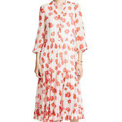 Robe micro-perspective à imprimé floral simple -