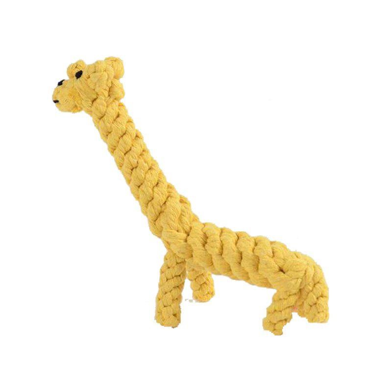 Sale Pet Chew Toy Dog Toys Hand-Made Refined Cotton Rope Weaving Giraffe Dog Toys