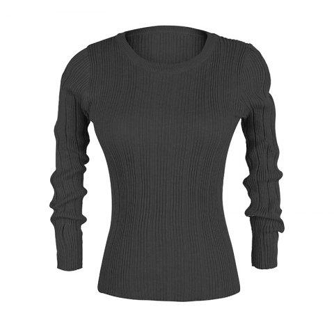 Slim women'S Autumn New Casual Stretch Bottoming Shirt Knit Sweater