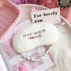 Fournitures Ménagères - Red Love Letter - Eye Shade - Blanc 24,5*12,8*0,8cm