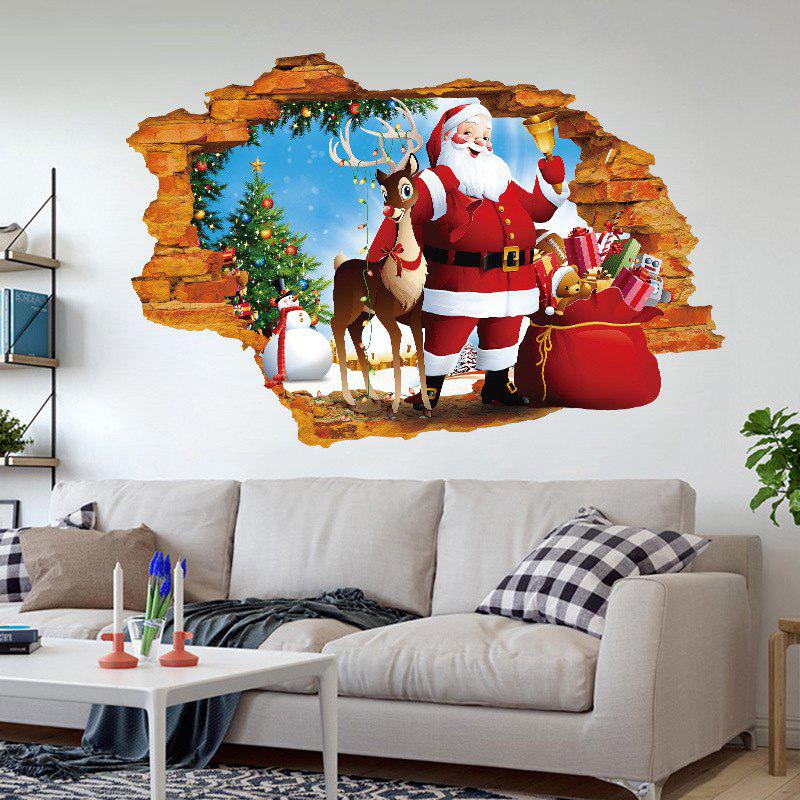 Outfit XHQ8247 Christmas Claus PVC Wall Sticker