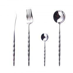 A61 SUS304 4 Pcs Flatware Set Mirror Polished PVD Plated -