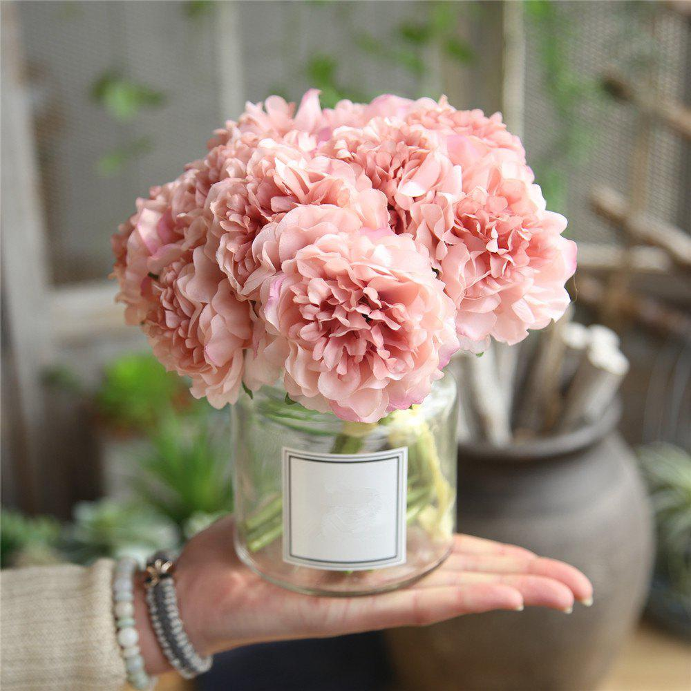 Best Peony Artificial Flower Bridal Bouquet Wedding Party Home Decorations