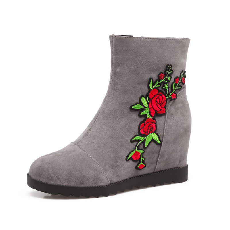 Store Medium Height Embroidered Scrub with Medium Height Boots