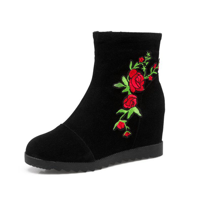 Cheap Medium Height Embroidered Scrub with Medium Height Boots