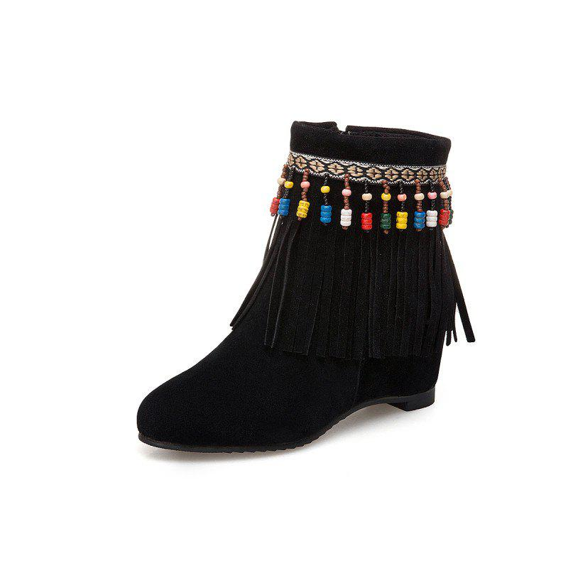 Trendy Inside Raised Tassel Beads Coloured College Breeze Boots