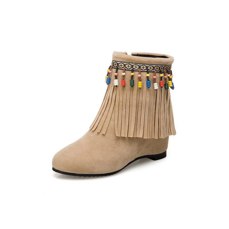 Discount Inside Raised Tassel Beads Coloured College Breeze Boots