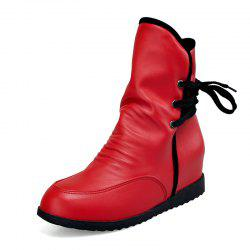 With A Raised Round Head Sweet Short Boot -
